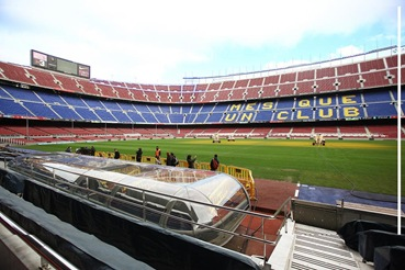 Nou Camp Stadium Tour - The notorious slogan of 'Mes que un club' - more than a club.